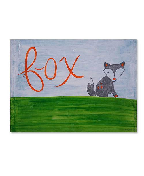 "Trademark Global Nicole Dietz 'Fox Sky' Canvas Art - 18"" x 24"""