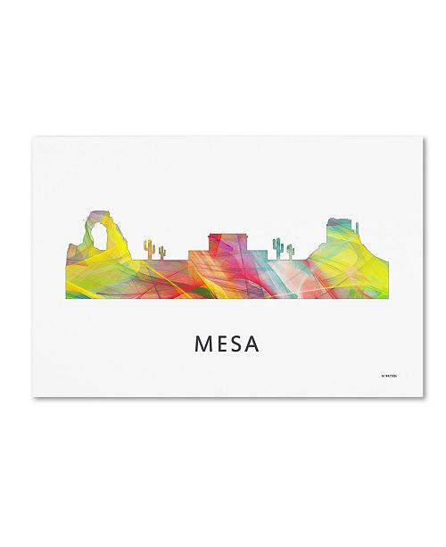 "Trademark Global Marlene Watson 'Mesa Arizona Skyline WB-1' Canvas Art - 16"" x 24"""