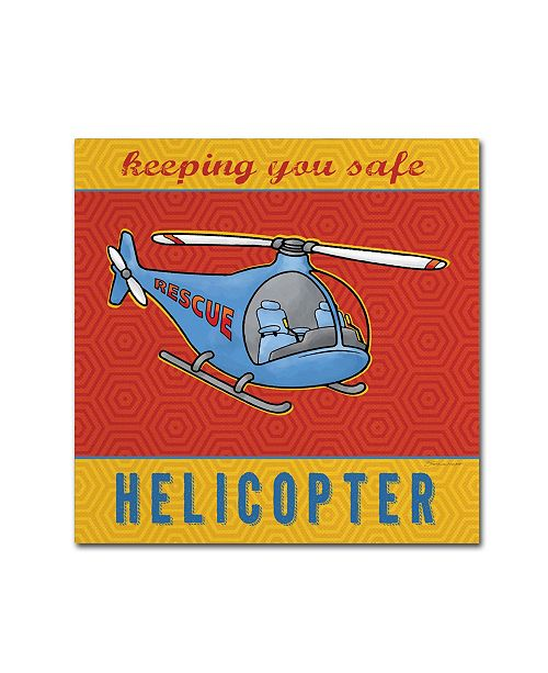 "Trademark Global Stephanie Marrott 'Helicopter' Canvas Art - 18"" x 18"""