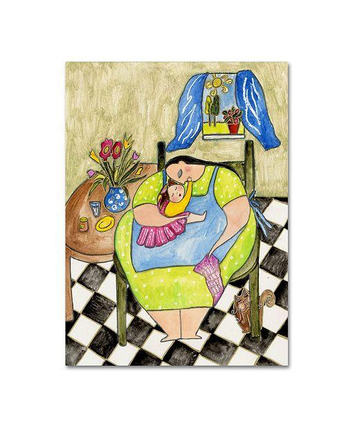 "Trademark Global Wyanne 'Big Diva Peanut Butter Kisses' Canvas Art - 18"" x 24"""