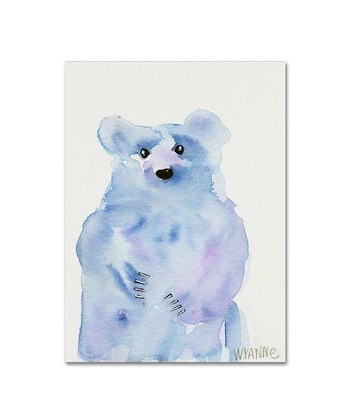 "Trademark Global Wyanne 'Blue Bear' Canvas Art - 18"" x 24"""