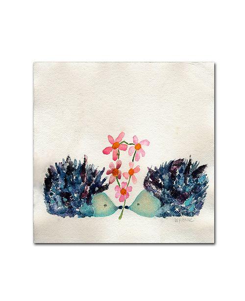 """Trademark Global Wyanne 'Hedgehogs In Love' Canvas Art - 18"""" x 18"""""""