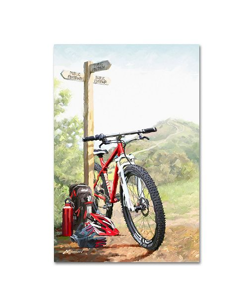 "Trademark Global The Macneil Studio 'Mountain Bike' Canvas Art - 16"" x 24"""