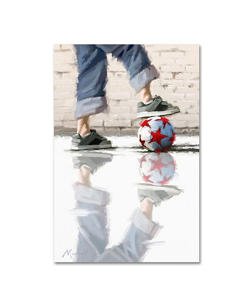 "Trademark Global The Macneil Studio 'Urban Football' Canvas Art - 16"" x 24"""