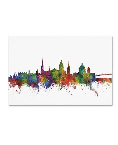 "Trademark Global Michael Tompsett 'Annapolis Maryland Skyline II' Canvas Art - 16"" x 24"""