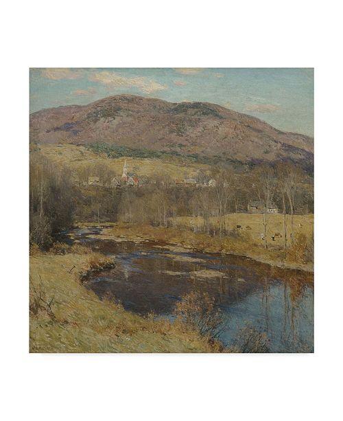 "Trademark Global Willard Leroy Metcalf 'The North Country 1923' Canvas Art - 18"" x 18"""