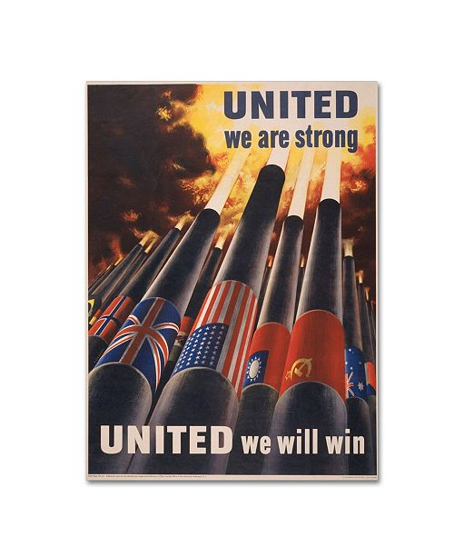 """Trademark Global Vintage Apple Collection 'United' Canvas Art - 18"""" x 24"""""""