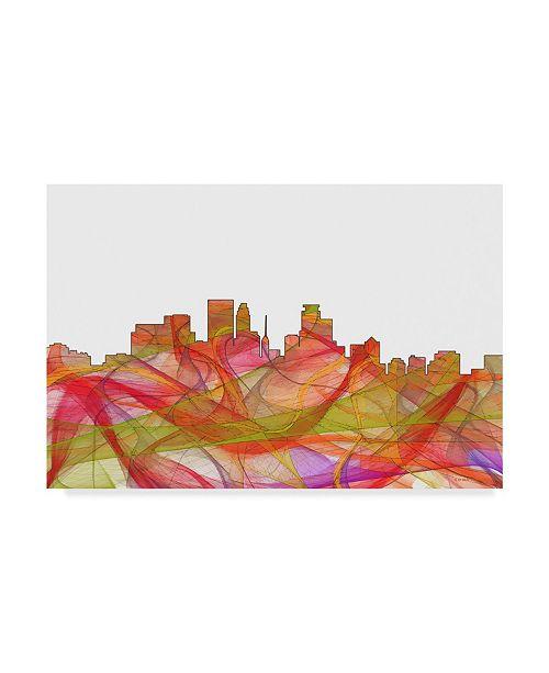 "Trademark Global Marlene Watson 'Minneapolis Minnesota Swirl' Canvas Art - 16"" x 24"""