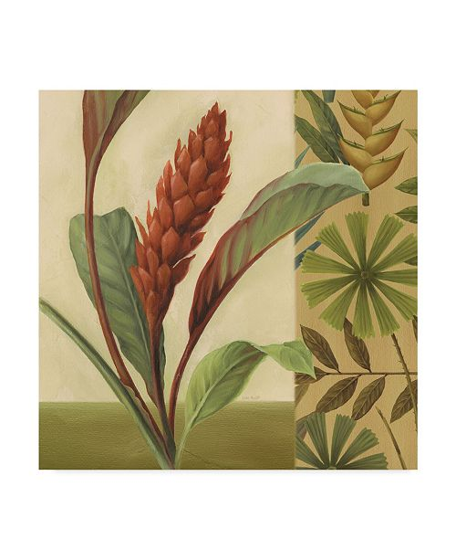 "Trademark Global Lisa Audit 'Flowers of Paradise 1 Gold' Canvas Art - 18"" x 18"""