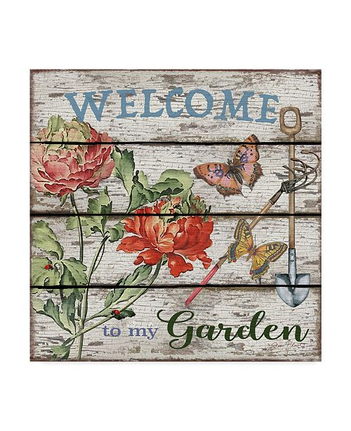"Trademark Global Jean Plout 'Country Garden' Canvas Art - 18"" x 18"""