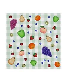 "Kimura Designs 'Fruit Patter' Canvas Art - 18"" x 18"""