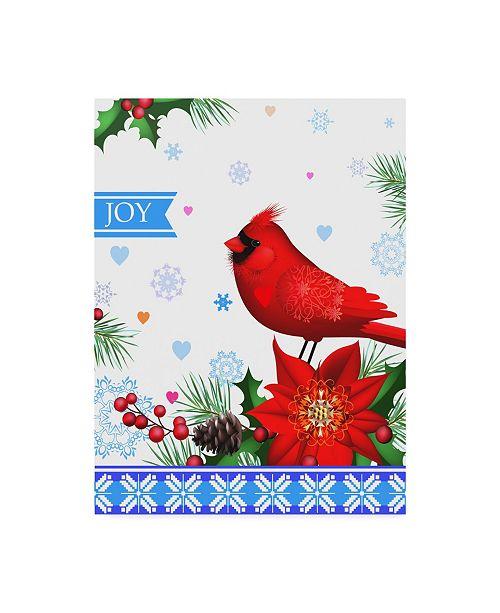 "Trademark Global Maria Rytova 'Cheerful Composition with Cardinal 1' Canvas Art - 18"" x 24"""