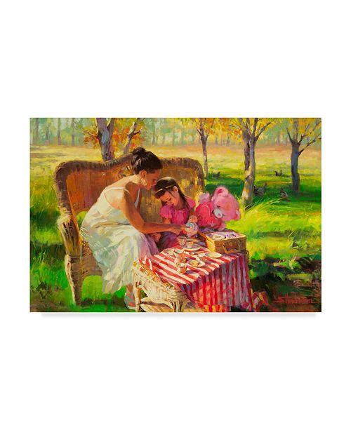 "Trademark Global Steve Henderson 'Afternoon Tea' Canvas Art - 16"" x 24"""