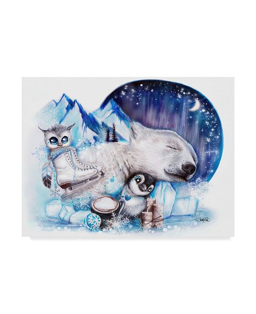 """Trademark Global Sheena Pike Art And Illustration 'Dreaming Of Winter' Canvas Art - 18"""" x 24"""""""