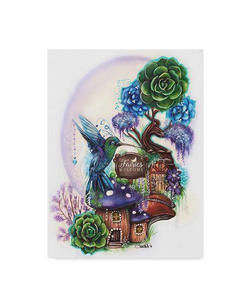 "Trademark Global Sheena Pike Art And Illustration 'Fairies Welcome' Canvas Art - 18"" x 24"""