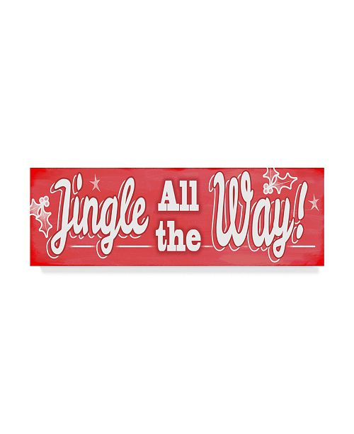 "Trademark Global Valarie Wade 'Jingle All The Way Sign' Canvas Art - 16"" x 47"""