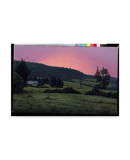 "Trademark Global Wilhelm Goebel 'Hillside At Dusk' Canvas Art - 16"" x 24"""