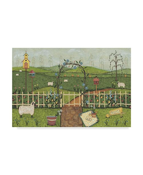 "Trademark Global Robin Betterley 'Folk Garden' Canvas Art - 19"" x 12"""