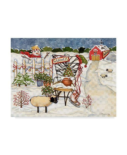 "Trademark Global Robin Betterley 'Winter Tree Farm' Canvas Art - 19"" x 14"""