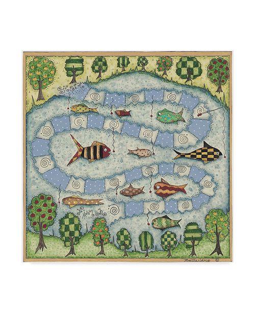 "Trademark Global Robin Betterley 'The Fish Game' Canvas Art - 18"" x 18"""
