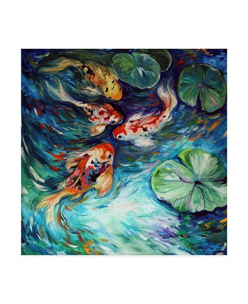 "Trademark Global Marcia Baldwin 'Dancing Colors Koi' Canvas Art - 18"" x 18"""