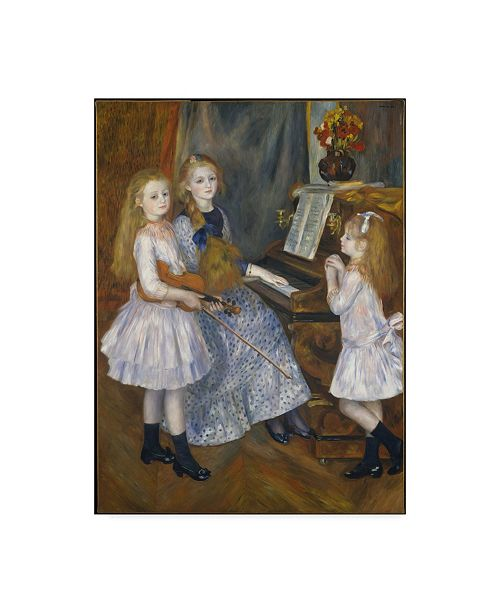 """Trademark Global Pierre Auguste Renoir 'The Daughters Of Catulle' Canvas Art - 19"""" x 14"""""""