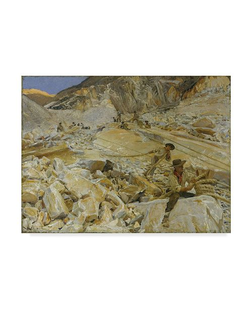 "Trademark Global John Singer Sargent 'The Quarries To Carrara' Canvas Art - 19"" x 14"""