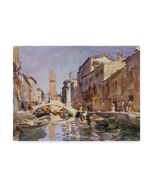 "Trademark Global John Singer Sargent 'Venetian Canal' Canvas Art - 19"" x 14"""
