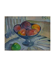 "Paul Gauguin 'Fruit Dish On A Garden Chair' Canvas Art - 19"" x 14"""