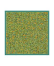 """Peter Mcclure 'Pans Labyrinth' Canvas Art - 14"""" x 14"""""""