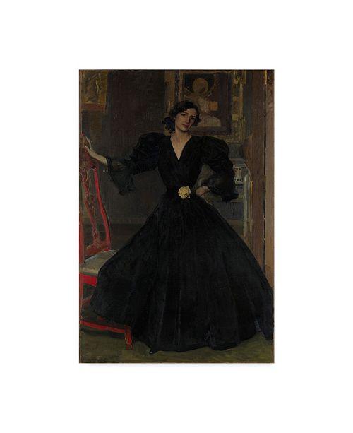 "Trademark Global Joaquin Sorolla Y Bastida 'Senora De Sorolla In Black' Canvas Art - 19"" x 12"""