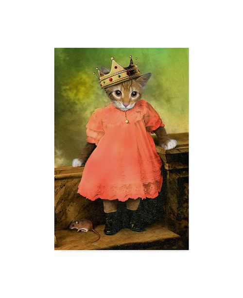 """Trademark Global J Hovenstine Studios 'Cat And Mouse 2' Canvas Art - 22"""" x 32"""""""