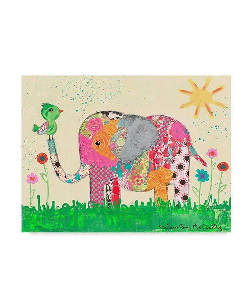 """Trademark Global Jennifer Mccully 'Mosaic Elephant' Canvas Art - 19"""" x 14"""""""