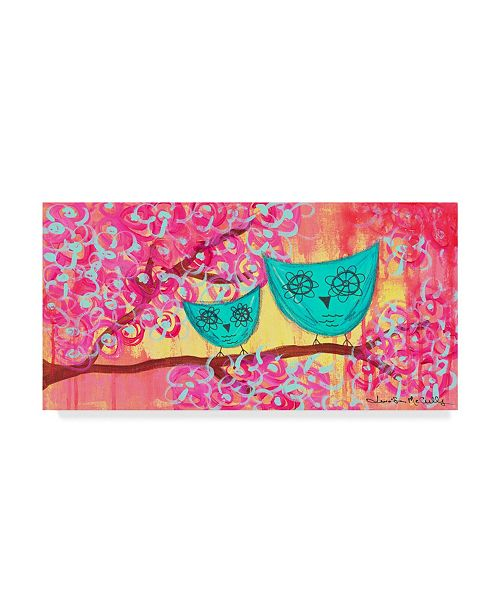 "Trademark Global Jennifer Mccully 'Two Owls' Canvas Art - 19"" x 10"""