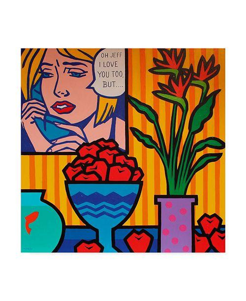 """Trademark Global John Nolan 'Homage To Lichtenstein And Wesselmann' Canvas Art - 24"""" x 24"""""""
