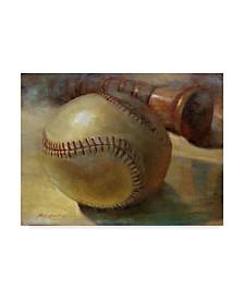 "Hall Groat Ii 'Baseball With Bat' Canvas Art - 19"" x 14"""