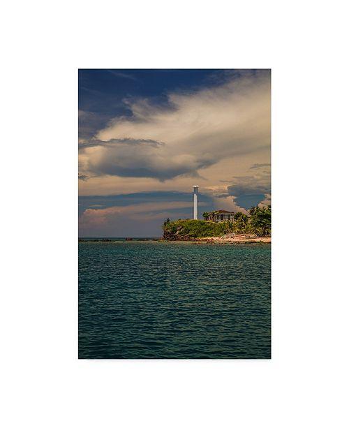 "Trademark Global Jason Matias 'Light House On Islet' Canvas Art - 16"" x 24"""