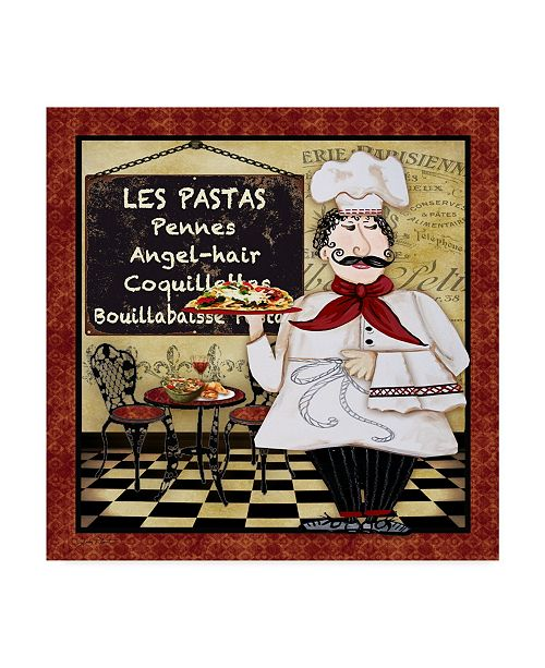 "Trademark Global Jean Plout 'Bistro Chef 4' Canvas Art - 18"" x 18"""