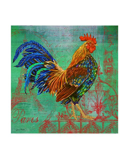 "Trademark Global Jean Plout 'Le Rooster' Canvas Art - 24"" x 24"""