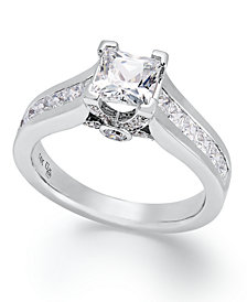 Certified Diamond Engagement Ring in 14k Gold or White Gold (1-1/2 ct. t.w.)