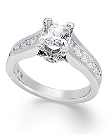 certified diamond engagement ring in 14k gold or white gold 1 12 - White Gold Wedding Rings For Women