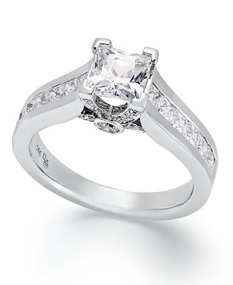 Macy S Certified Diamond Princess Cut Engagement Ring In 14k Gold Or