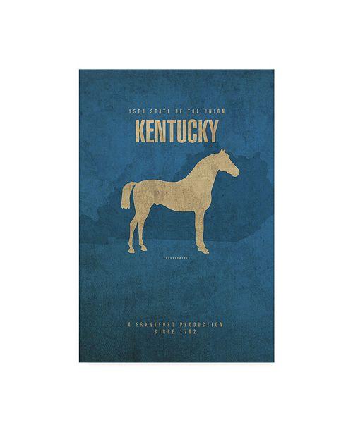 "Trademark Global Red Atlas Designs 'State Animal Kentucky' Canvas Art - 22"" x 32"""