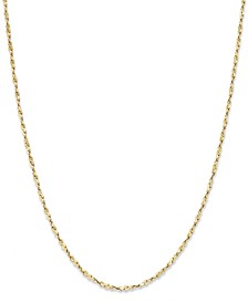 "18"" Twist Chain Necklace in 18K Gold over Sterling Silver, Created for Macy's"