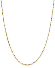 "Giani Bernini 18"" Twist Chain Necklace in 18K Gold over Sterling Silver, Created for Macy's"