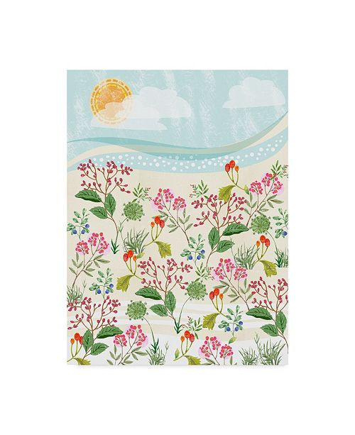 """Trademark Global Lisa Powell Braun 'Winter Florals' Canvas Art - 18"""" x 24"""""""
