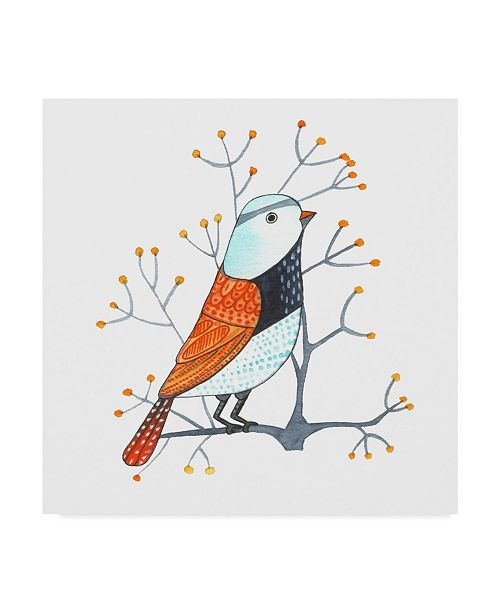 "Trademark Global Michelle Campbell 'Bird Design 3' Canvas Art - 14"" x 14"""
