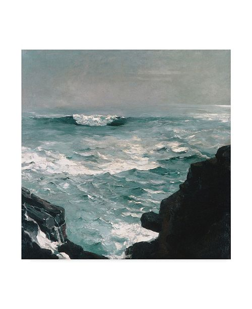 "Trademark Global Winslow Homer 'Cannon Rock, 1895' Canvas Art - 14"" x 14"""