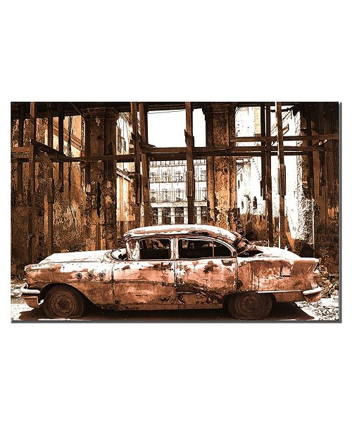 """Trademark Global 'Old Times' Canvas Art - 16"""" x 24"""""""