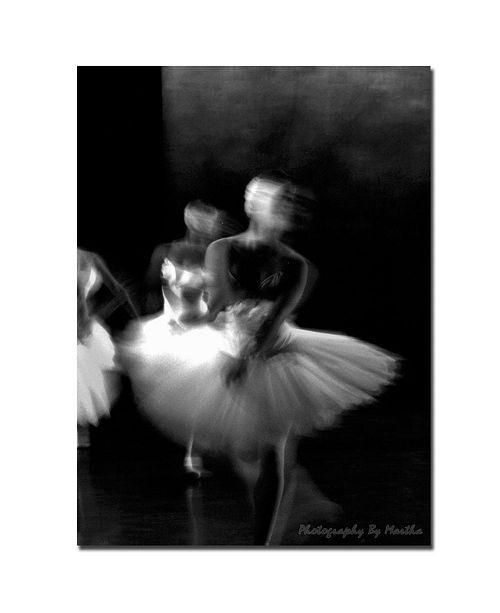 "Trademark Global Martha Guerra 'Dancers X' Canvas Art - 19"" x 14"""